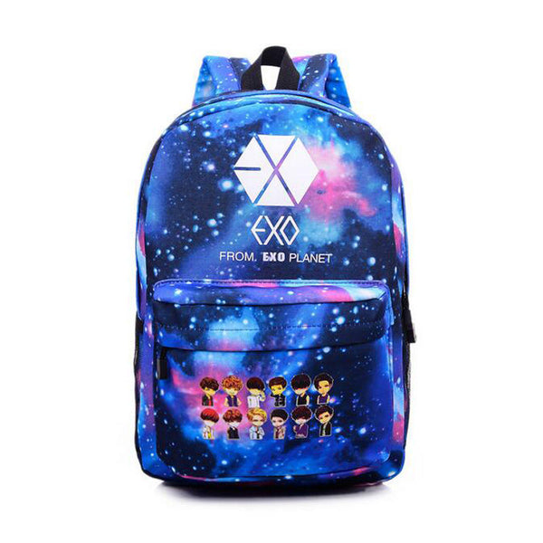 Canvas Backpack Cartoon Rucksacks Men