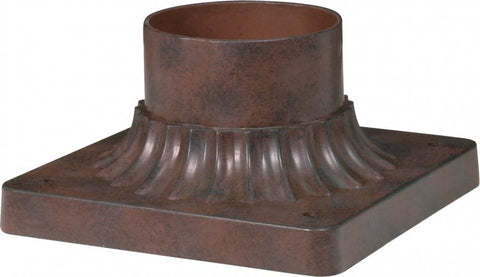 NUVO Lighting 25/1203 ALUMINUM POST BASE OLD BRONZE
