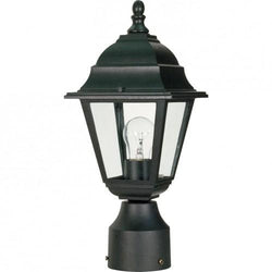 "NUVO 60/548 Briton - 1 Light - 14"" - Post Lantern - with Clear Glass"