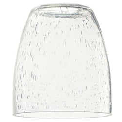Westinghouse 8509000 - Clear Seeded Glass Shade - 2 1/4-Inch Fitter