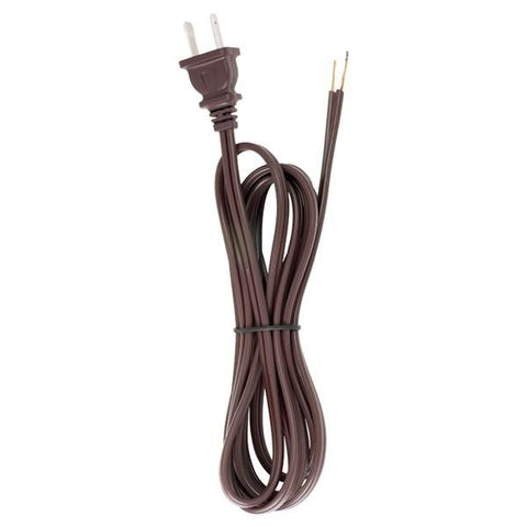 SATCO products 90/101 8' BRN CORDSET W/MOLDED PLUG