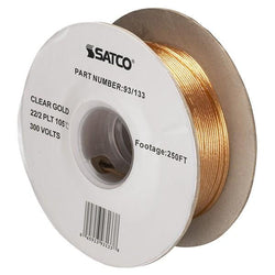 SATCO products 93/133 22/2 CLEAR GOLD WIRE 250 FT.