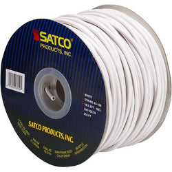 SATCO products 93/150 18/2 SVT WHITE PLASTIC 250'SPO