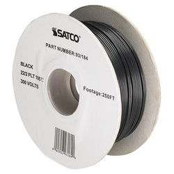 SATCO products 93/184 22/2 BLACK WIRE 250 FT.