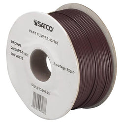 SATCO products 93/188 20/2 PLT BROWN WIRE ON 250 FT