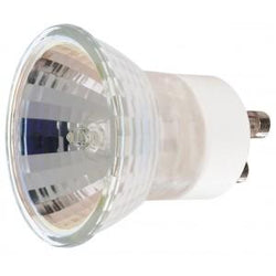 Satco  S4196  35 watt; Halogen; MR11; FTH; 1000 Average rated Hours; 250 Lumens; Sub Minature 2 Pin GU10 base; 120 volts
