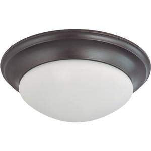 "NUVO 60/3177 3 Light 17"" Flush Mount Twist & Lock with Frosted White Glass"
