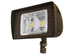 Maxlite 76681 ARCHITECTURAL FLOOD LIGHT, SIZE C, 76W, 2 COB, NEMA 6X6, 120-277V, 4100K, 70 CRI, KNUCKLE SLIPFITTER ARM, BRONZE, 10KA SURGE SUPPRESSOR