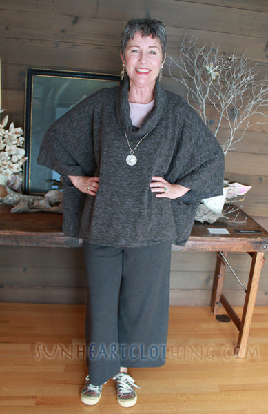CUDDLY KLEAN CLOTHING COWL PONCHO TUNIC TOPS