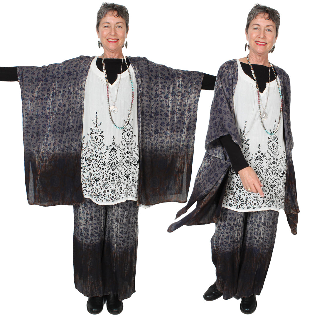 55% DISCOUNT CLOSE-OUT SUNHEART COTTON KNIT WRAP DRESS RESORT WEAR BOHO SML-2X