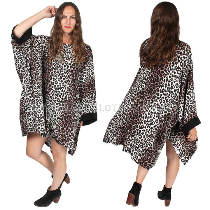 Dairi Fashions Plus Damascus Top Leopard Moroccan Cotton Boho Sml-9x