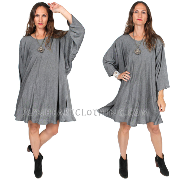 Dairi Fashions Silver Weave Chenela Tunic or Dress Plus Boho Hippie Resort Plus Sml-8x