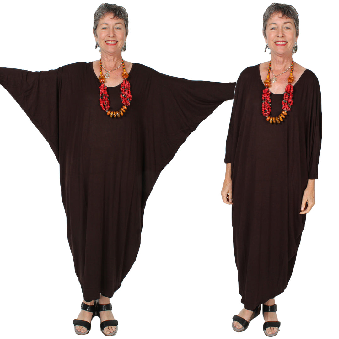 Sunheart Freedom  dolman sleeve Dress Boho Hippie Chic Resort Wear Sml-7X