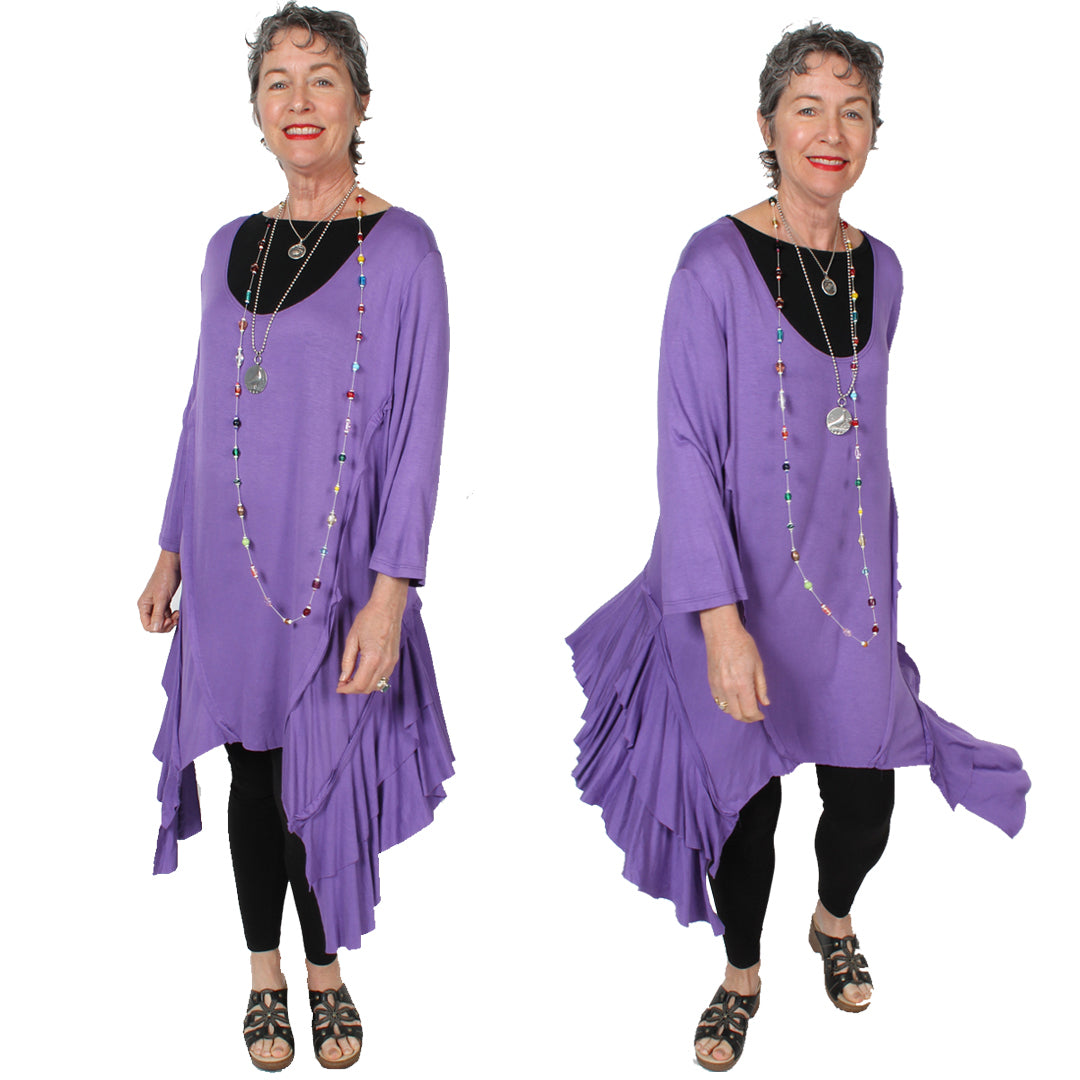 Sunheart Freedom Lagenlook Tunic Top Boho Hippie Chic Resort Wear Sml-3X+