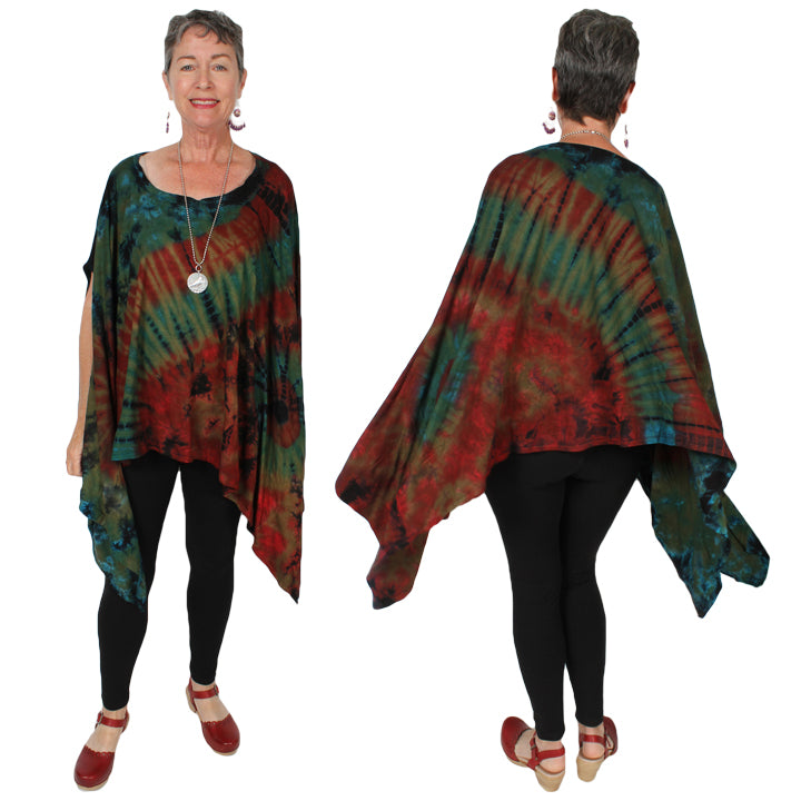 Sunheart Freedom Lagenlook Layering Tunic Jacket Boho Hippie Chic Resort Wear Sml-10X