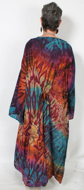 Mission Canyon Plus Batik Dress  Boho Hippie Chic XL-4X+