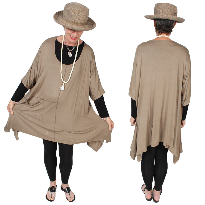 Sunheart Plus Tunic Top Lagenlook Boho Hippie Chic SML-7X