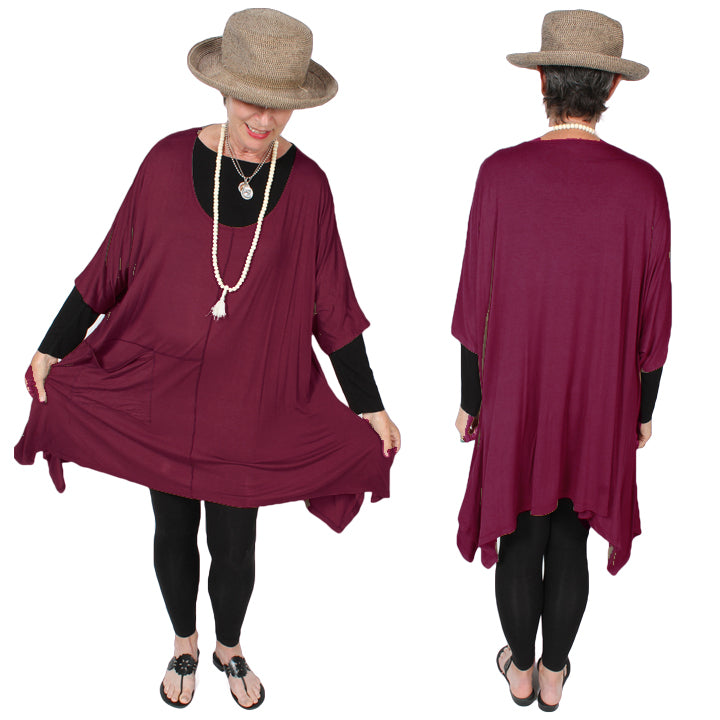 Sunheart Plus Tunic Top Lagenlook Boho Hippie Chic SML-6X