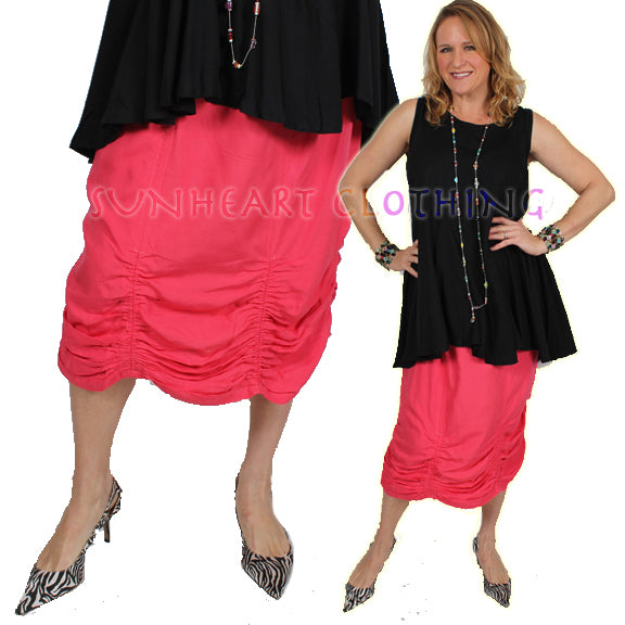 70% OFF Sunheart Victorian Ruch Skirt  Boho Hippie Chic Resort Wear Sml-XL