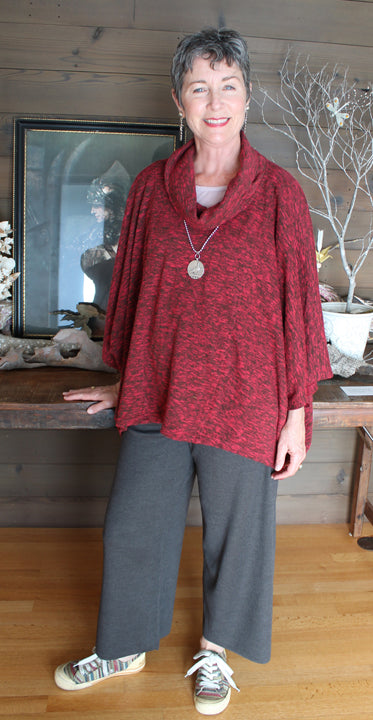 Kleen Cowl Poncho Tunic Top Boho Plus Hippie Chic Sml-8x