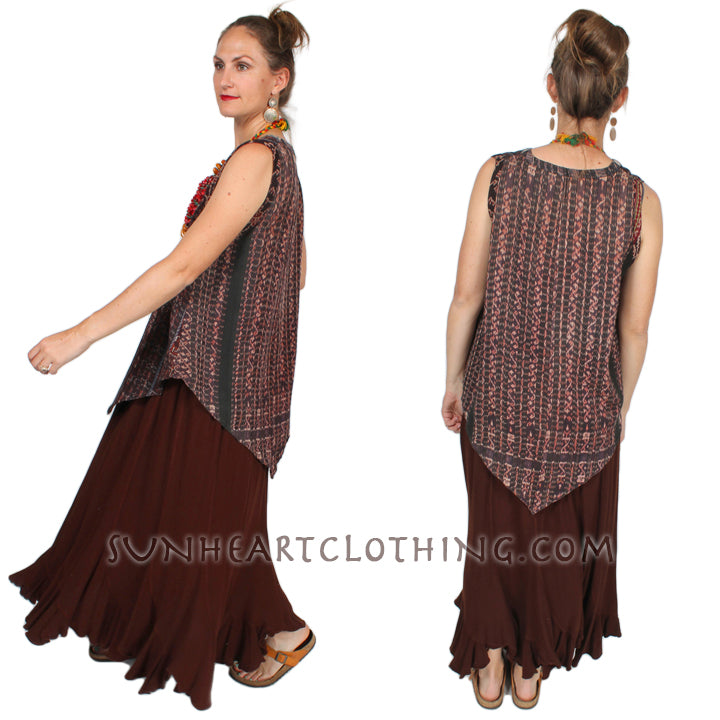 Tienda ho Cotton Ikat Tank Top Monsoon Boho Resort Wear Hippie Chic Plus Sml-2x
