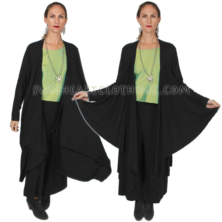 HeartString Duster Coat Boho Hippie Chic Stunning 5 New Colors Sml-8x