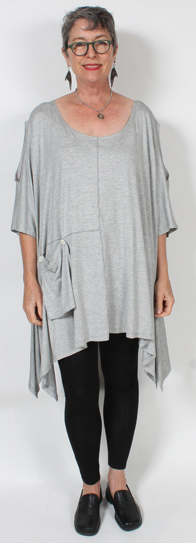 Sunheart Plus Tunic Top Cold Shoulder Lagenlook Boho Hippie Chic SML-7X
