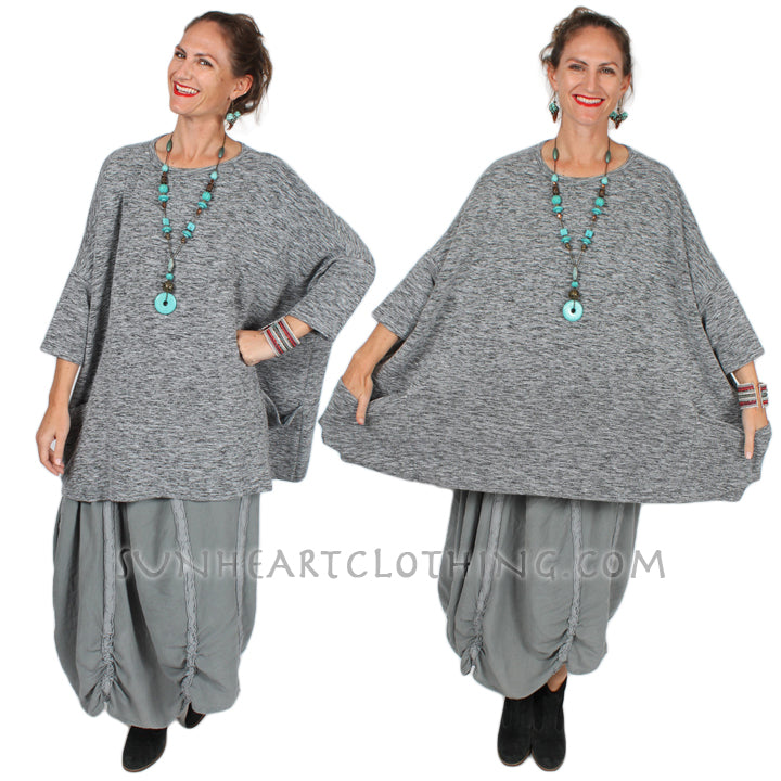 Cut Loose One-Size Boxy Pullover Boho Sophisticated Casual Sml-7x