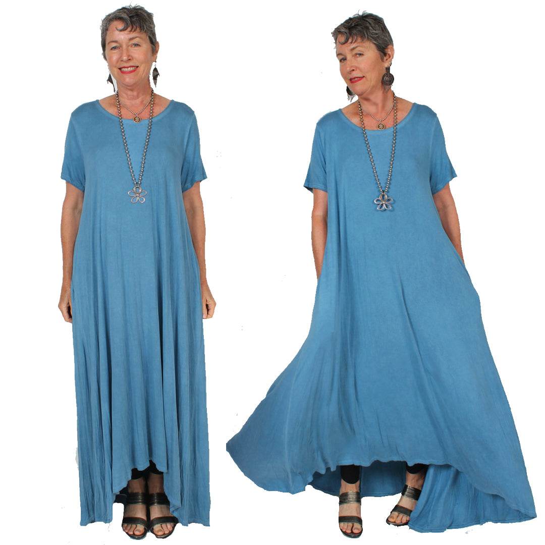 Sunheart Hi-Low Dress Layering Plus Boho Resort Wear Sml-6X
