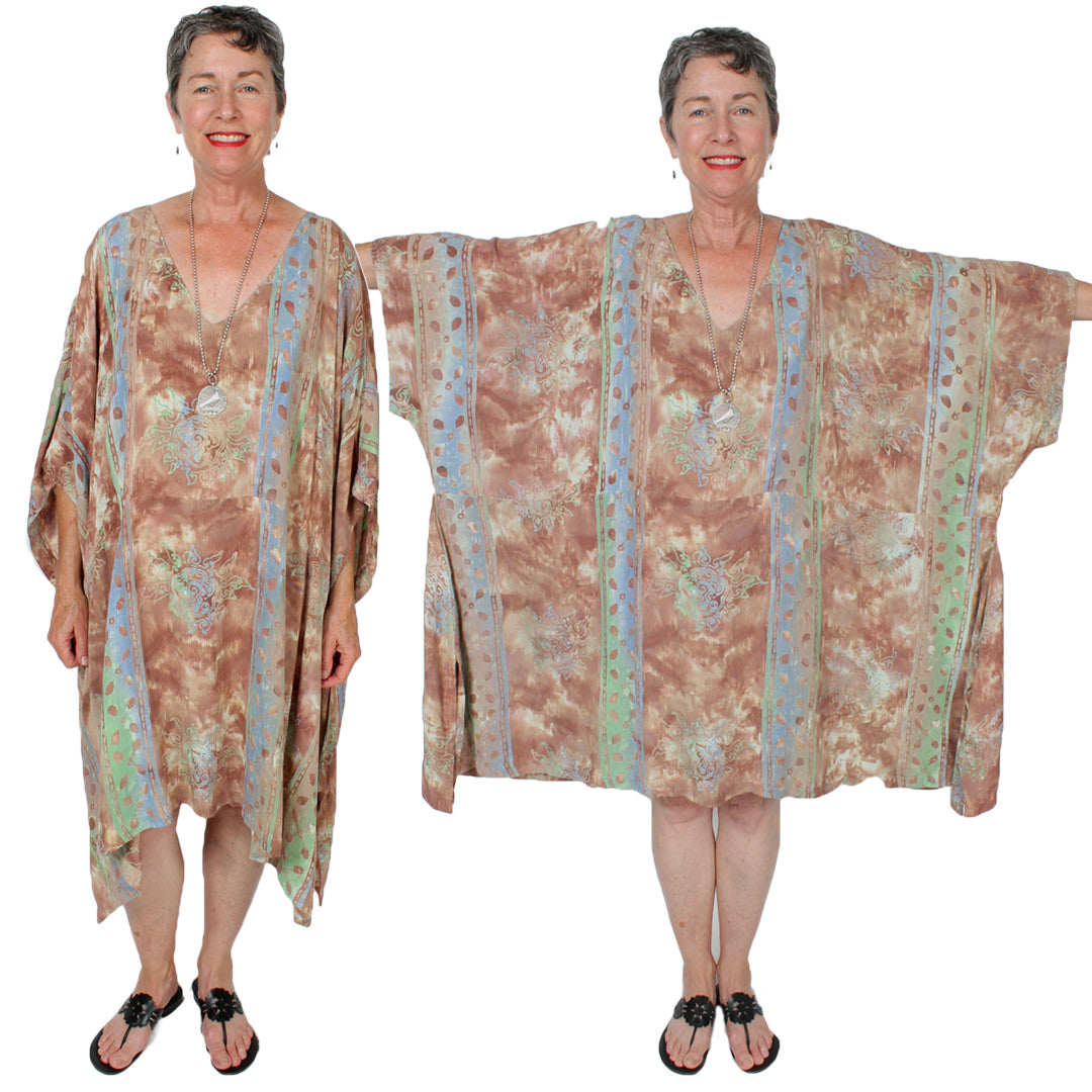 Sunheart Oversize Batik Tunic Top Boho Hippie Chic Resort Wear Sml-7X