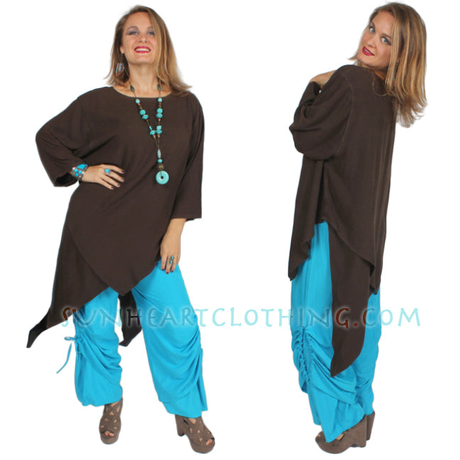 Tienda ho Sumatra 2 full Layers Tunic Top Moroccan Cotton Resort Wear Sml-2x+