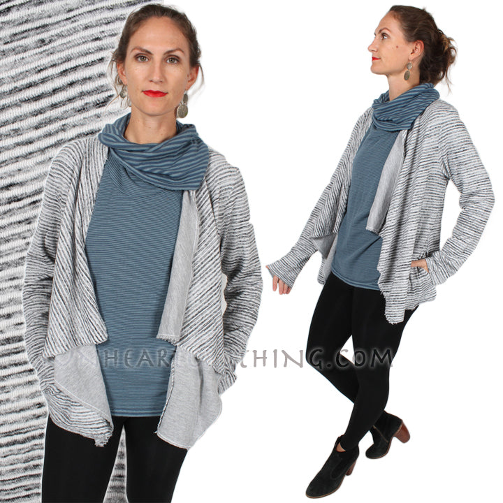 Cut-Loose Waterfall Jacket Made in USA Sophisticated Casual Plus Sml-3x