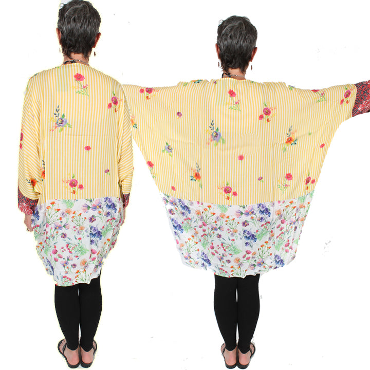 Sunheart Freedom Dolman Sleeve Jacket Boho Hippie Chic Resort Wear Sml-6X