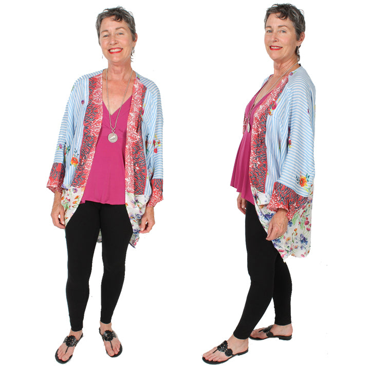 $53 OFF Sunheart Freedom Dolman Sleeve Jacket Boho Hippie Chic Resort Wear Sml-6X