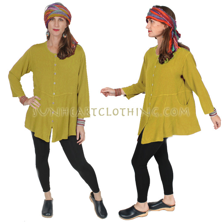 Tienda Ho Johara Tunic Top Jacket Moroccan Cotton Sml-2x