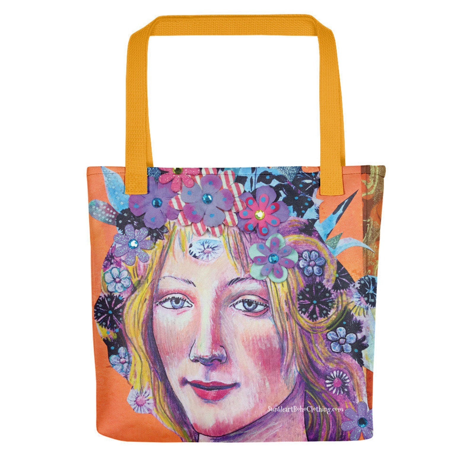 Sunheart Bottecelli Venus Collage Goddess Tote Should Bag Book Grocery Bag