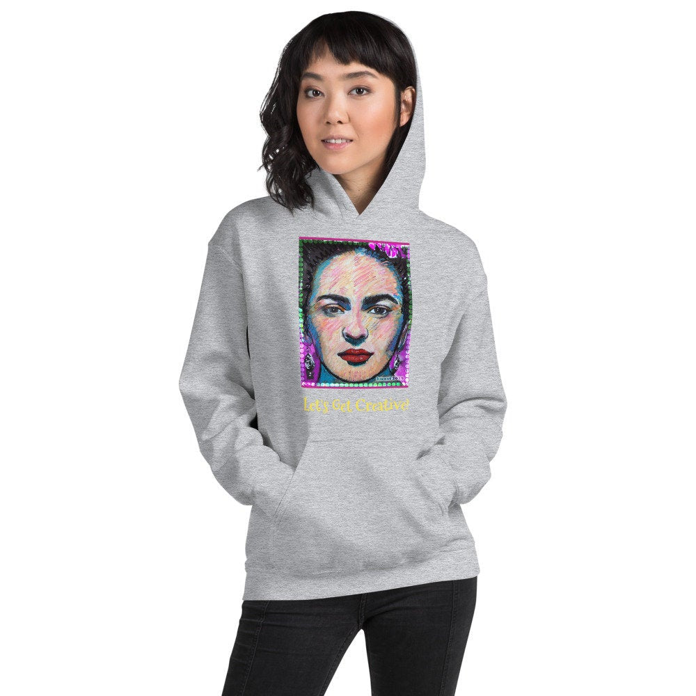 Sunheart Folk Art Frida Kahlo Hoodie Pullover Small to Plus Sizes XL-2X