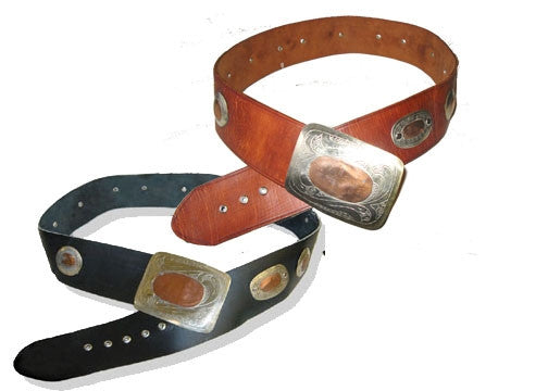 Authentic Moroccan Conch Leather Belt
