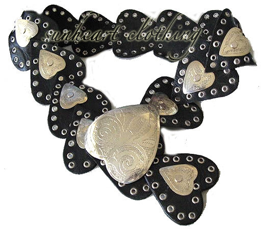 Authentic Moroccan Heart Qualb Leather Belt