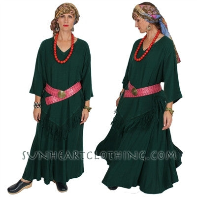 Amal Skirt Moroccan Cotton Plus Sml-3X Custom Dye $99