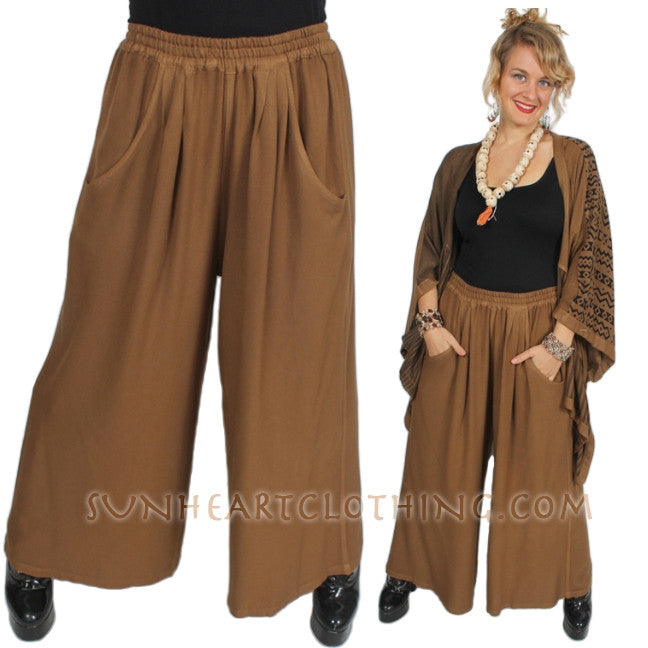 Wide Leg Pants Moroccan Cotton Plus Sml-3X Custom Dye $90