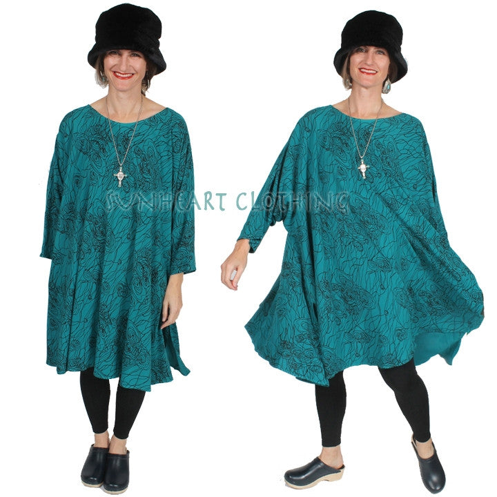 Dairi Fashions Chenela Tunic or Dress Boho Hippie Resort Plus Sml-8x
