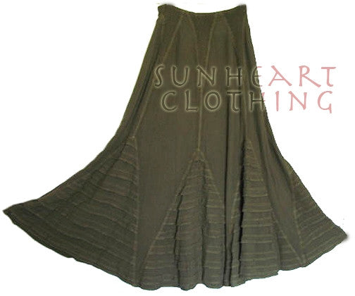 Fayala Pleated Skirt Moroccan Cotton Plus Sml-XL Custom Dye $150