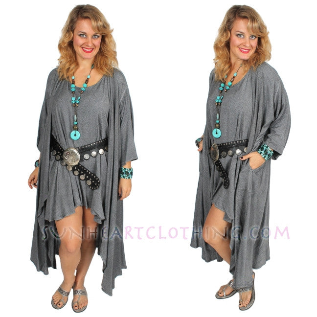Gandourah Top & Coat Moroccan Cotton Sml-7X Custom Dye $155