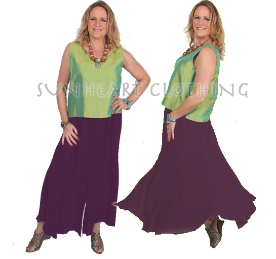 Juno Slit Skirt Moroccan Cotton Sml-2XL Custom Dye $99