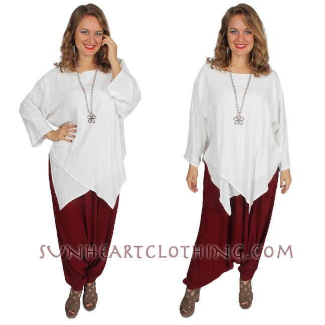 Kirpala 2 layer Top Moroccan Cotton Sml-2X Custom Dye $99