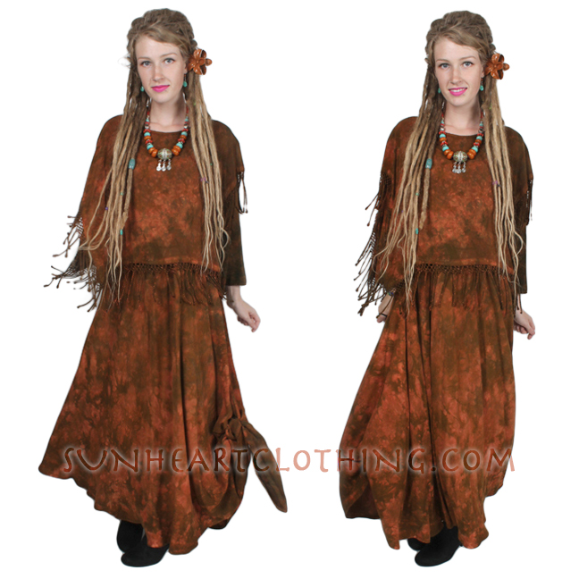 Marekech Fringe Shawl Dress Moroccan Cotton Sml-2X Custom Dye $145