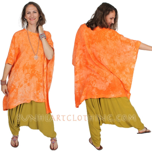 Mirage Poncho Top Moroccan Cotton Sml-7X Custom Dye $115