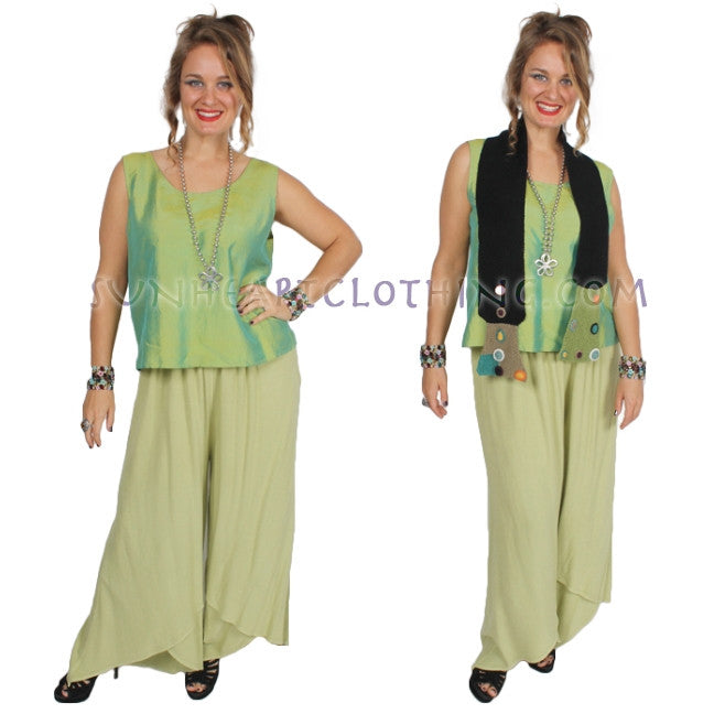 Petal Palazzo Pants Moroccan Cotton Plus Sml-3x Custom Dye $95