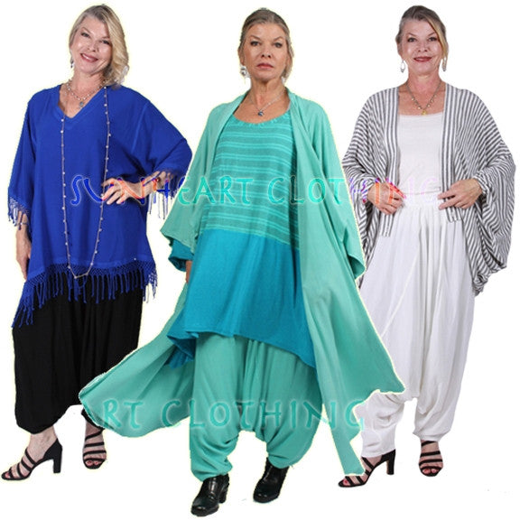 Sharwal Harem Pants Moroccan Cotton Plus Sml-3x Custom Dye $98